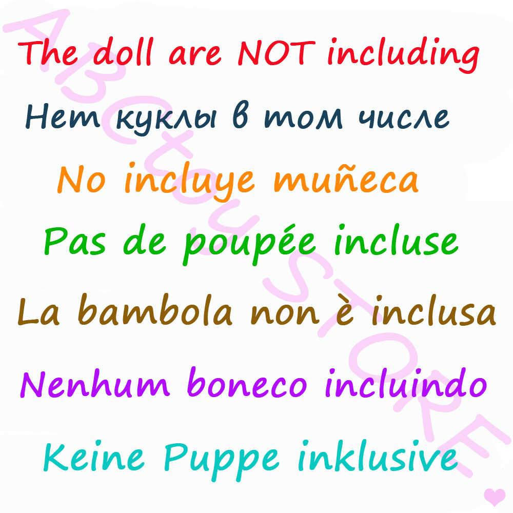 1 комплект, модная разноцветная одежда, платье с оборками, рубашка, джинсовая юбка в клетку, повседневная одежда, аксессуары, одежда для куклы Барби