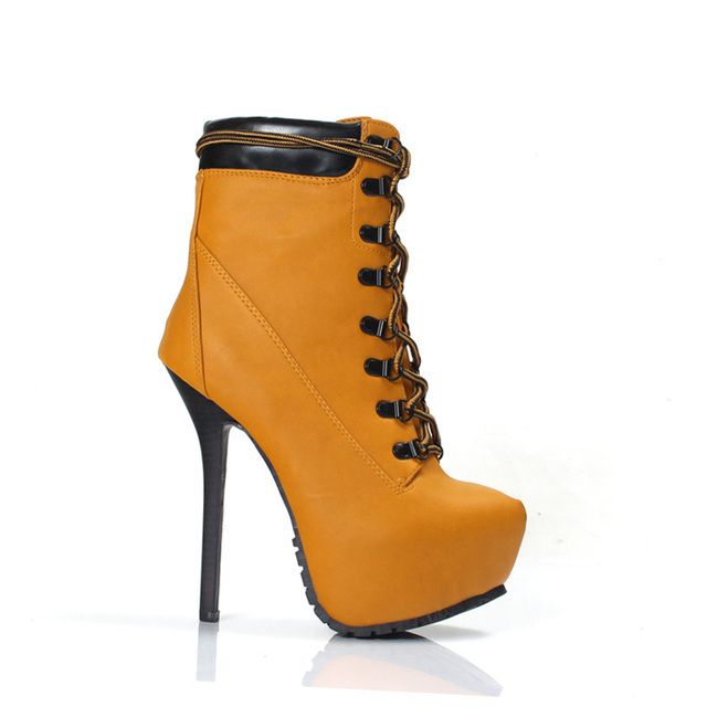 Cheap Price Amazing Designer Booties Yellow Leather Fashion Ankle ...