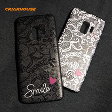 For SAMSUNG GALAXY S6 S7 Edge S8 S9 J3 J5 J7 Prime A3 A5 A7 J4 J6 A8 A6 Plus 2018 Lace Flower Pattern Soft Silicone Case Cover(China)