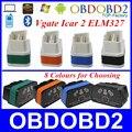 Versão mais recente Vgate Icar2 ELM327 Interface OBD2 Funciona em Android/PC ELM 327 Bluetooth ELM327 OBDII Car Auto Diagnostic Scanner