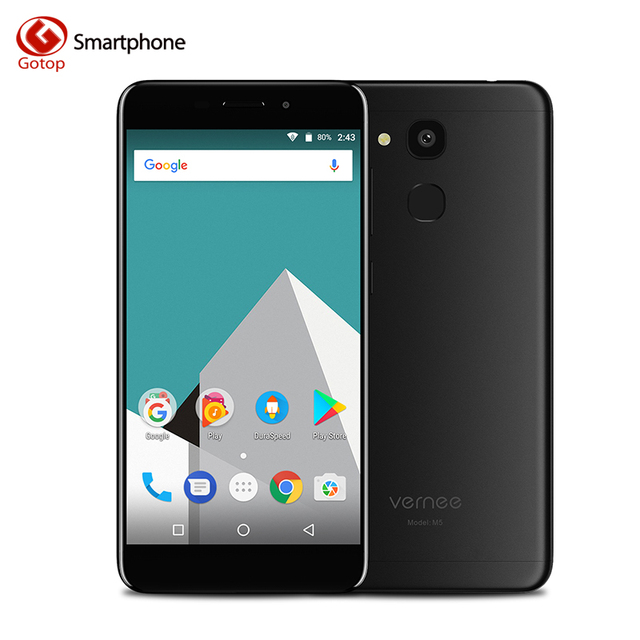 Original Vernee M5 MT6750 Octa-core Android 7.0 Mobile Phone 5.2 Inch Fingerprint Cell Phone 4G RAM 64G ROM 13.0MP 4G Smartphone