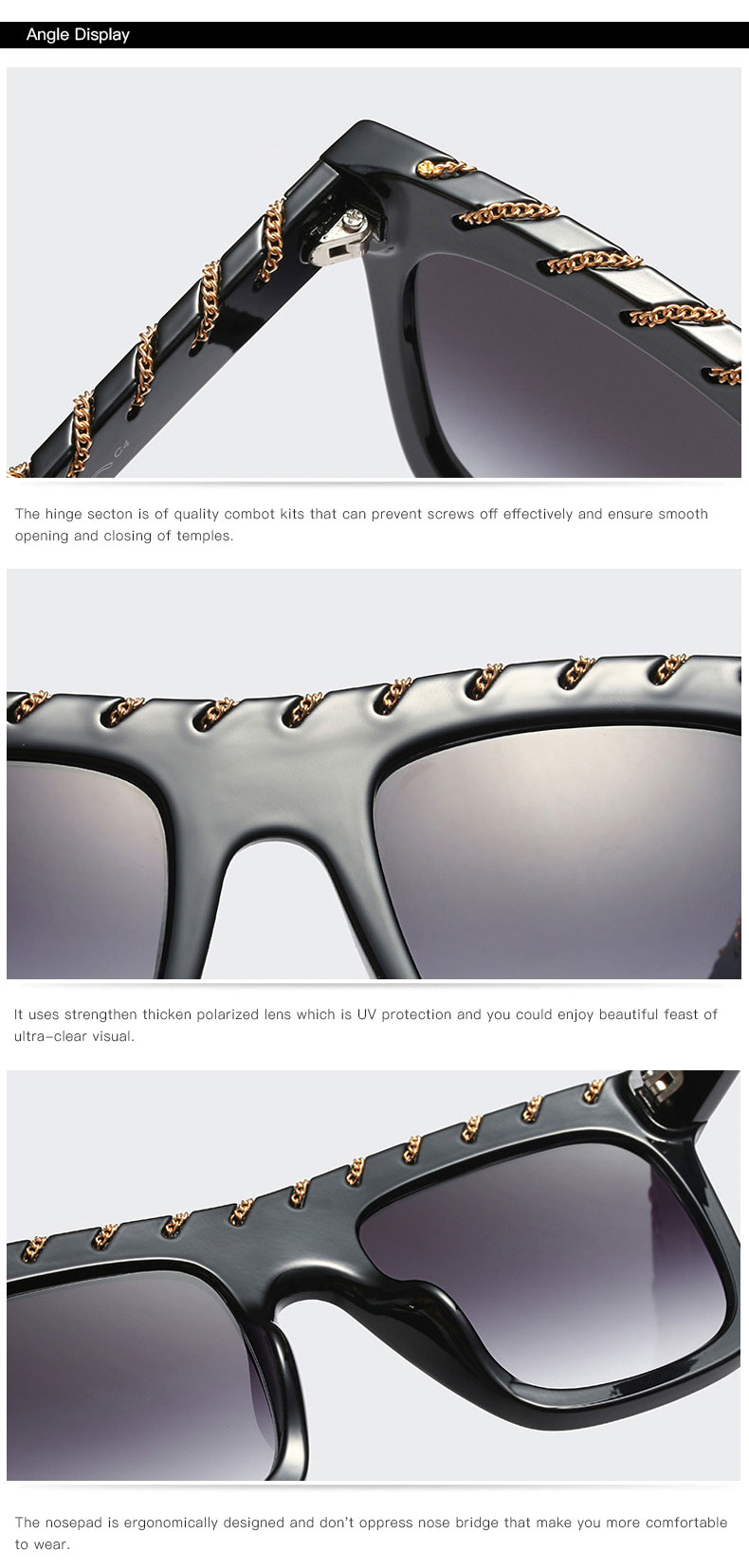 YDO Big Size Sunglasses Women 2019 Square Sunglasses Luxury Brand Vintage Sunglasses  Oversized Sun Glasses Fashion Shades UV400 (1)