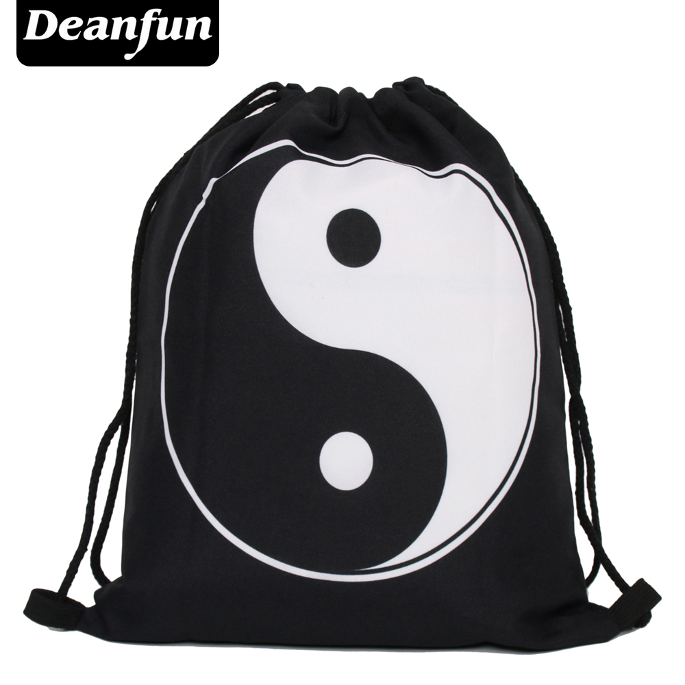Deanfun 2016 new fashion escolar backpack 3D printing taijii softback man women mochila feminina drawstring bag yin yang s36 polygon wolf 3d printing fashion women party bolsa feminina drawstring bag travel backpack mochila man s bags