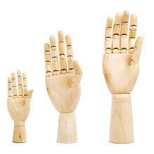 Tall Wooden Hand Drawing Sketch Mannequin Model Wooden Mannequin Hand Movable Limbs Human Artist Model 4 5 inch joints wood wooden mannequin toy wooden puppet wooden manikin home decoration model painting sketch cheap sale