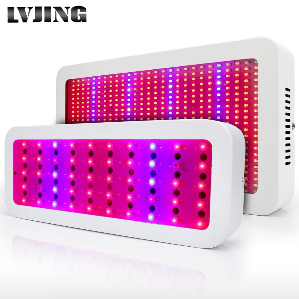 300W / 600W polna spektralna LED svetilka za vse znamke rdeča + modra + bela + UV + IR AC85 ~ 265V SMD5730 LED rastlinske svetilke LED akvarijske svetilke