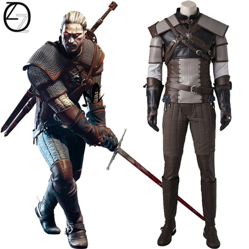 The Witcher 3:Wild Hunt Geralt of Rivia Cosplay Costume All Size Custom-Made