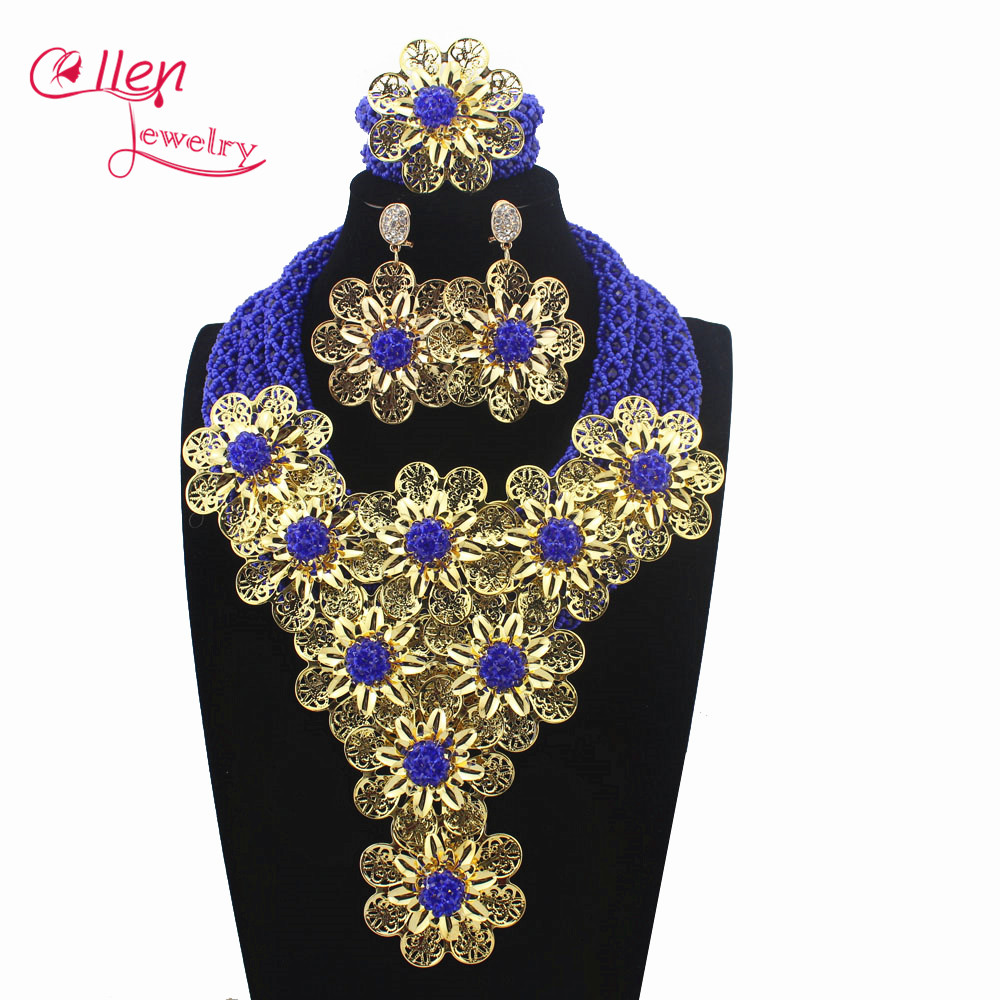 2019 Luxury gidt African beads jewelry sets india nigerian wedding beads beaded party necklace dubai jewelry sets E11452019 Luxury gidt African beads jewelry sets india nigerian wedding beads beaded party necklace dubai jewelry sets E1145