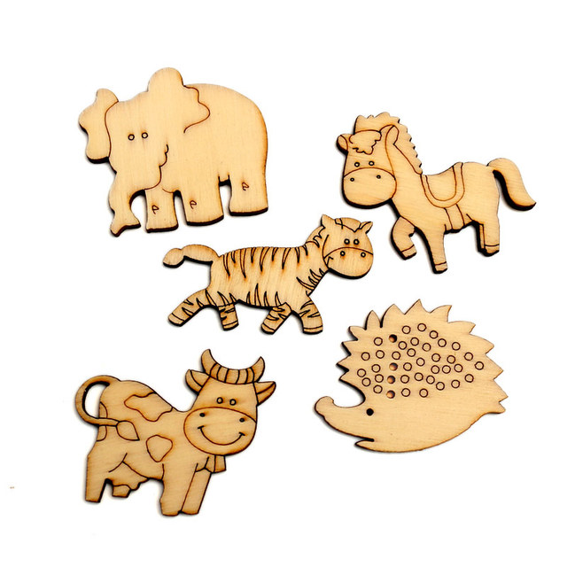50pcs Natural Animals Wood Craft Embellishments MDF Wooden Cutout Flatback  Scrapbooking for Cardmaking DIY Wedding Decoration-in Wood DIY Crafts from  Home ... 64e2dceef47a