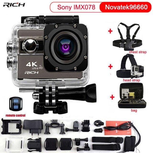 Unterhaltungselektronik Action Kamera F68 F68r 4 Karat 24fps Wifi 2,0 bildschirm 170 Winkel Einstellbar Extreme Sport Kamera Go Wasserdicht 30 Mt Pro Kamera Gute WäRmeerhaltung