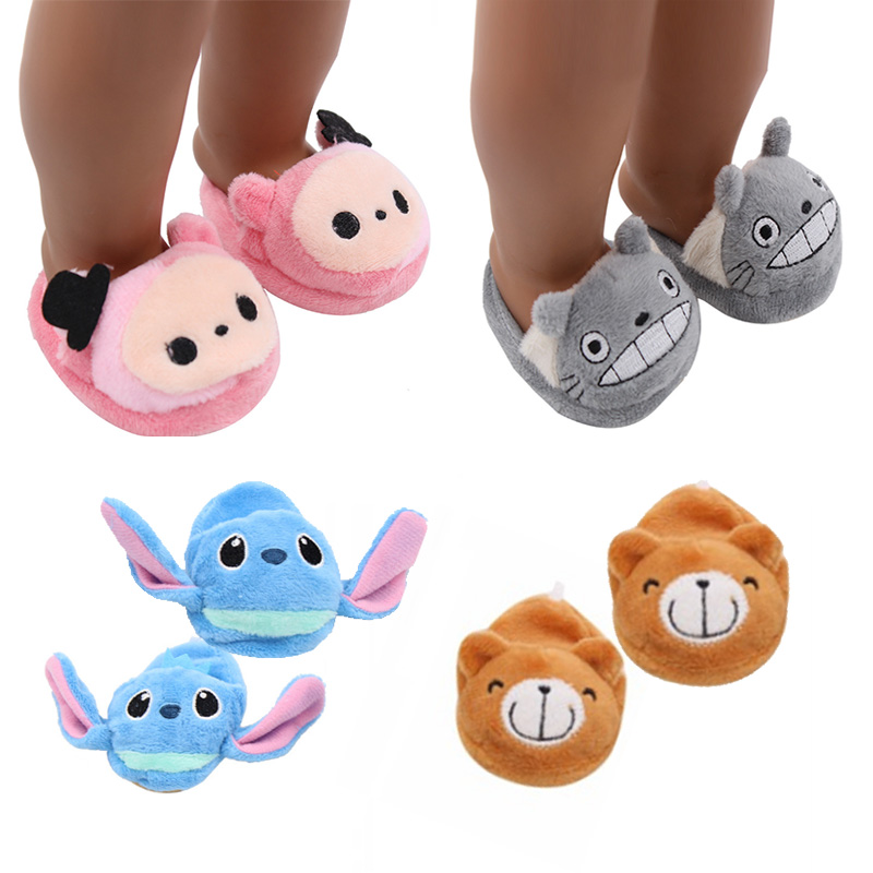 e2075bb7bc8 18-inch Doll Shoes-Fashioh Slipper for My baby-18    American Born Life Generation Doll Accessories-Cute Toy Outfit fit Girl Gift