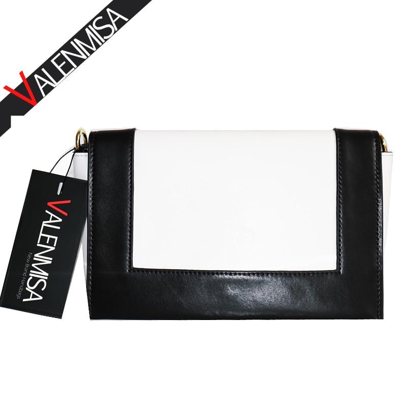 VALENMISA Genuine Leather Bags Handbags Women Famous Brands Luxury Shoulder Bags 2018 Patchwork Women Messenger Bags цена и фото