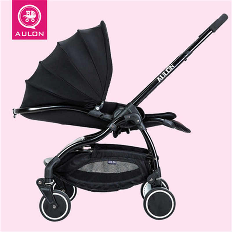 Aulon Four Wheels Lightweight Baby Stroller Portable Foldable Baby Strollers Multifunction Baby Carrier Cart Umbrella Stroller