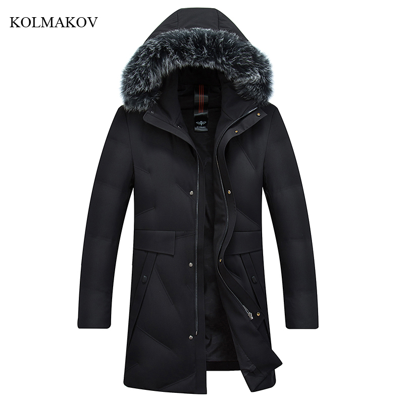 New Arrival Fashion Style Men Boutique Leisure   Down     Coats   High Quality Slim Thick Solid 90% White Duck Men's   Down   Jacket M-4XL