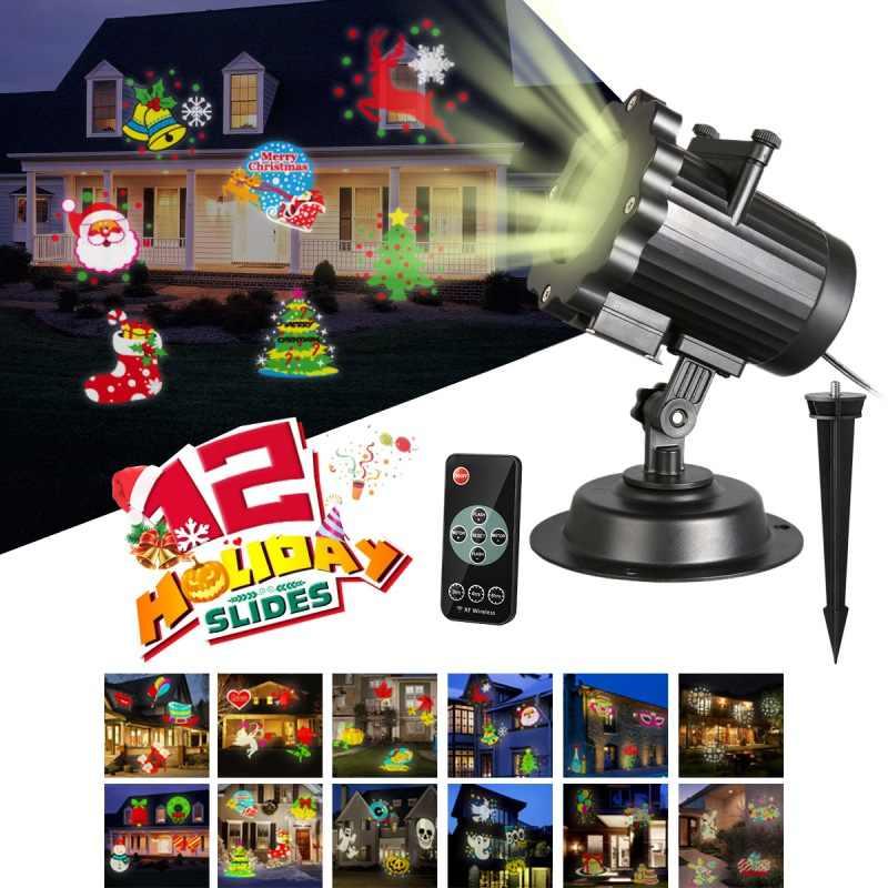 DIY RC Рождество лазерный проектор проецирования Рождественские огни лазерной лампы Рождественский Декор Главная Свет фестиваль вечерние реквизит для фотографий