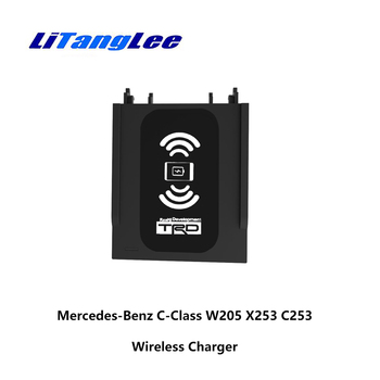 LiTangLee Car Mount Wireless Charger for Mercedes-Benz C-Class W205 X253 C253 2016 2017 2018 2019 Car Quick Charge Fast Mobile