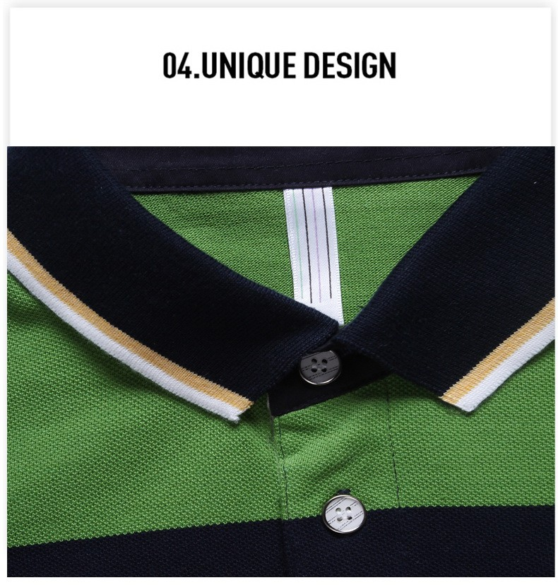 92% Cotton camisa Men Polo Shirt  2015 Casual Striped Slim short sleeves ASIAN SIZE M-4XL 10