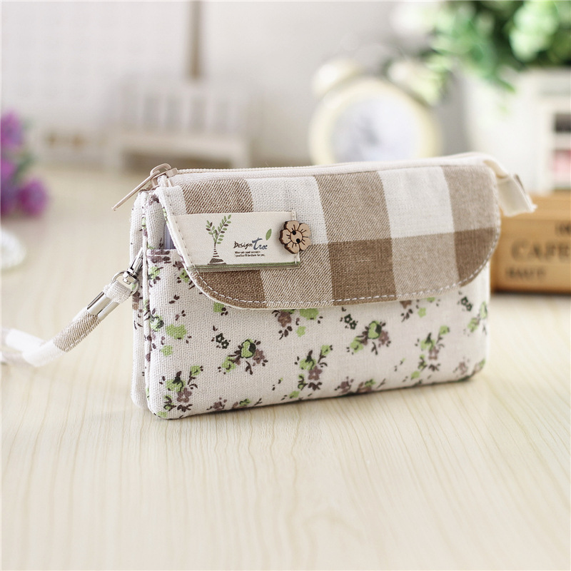 Women cotton long organizer wallets female small phone money pouches coin purse bags bolsas carteiras femininas bolso for girls сумка через плечо bolsas femininas couro sac femininas couro designer clutch famous brand