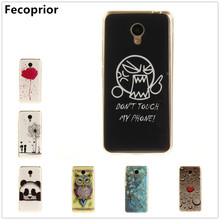 Fecoprior A5 M5C задняя крышка чехол для Meizu M5C A5 ТПУ мягкое сердце цветок сова сексуальная девушка Panda телефон celulars coque