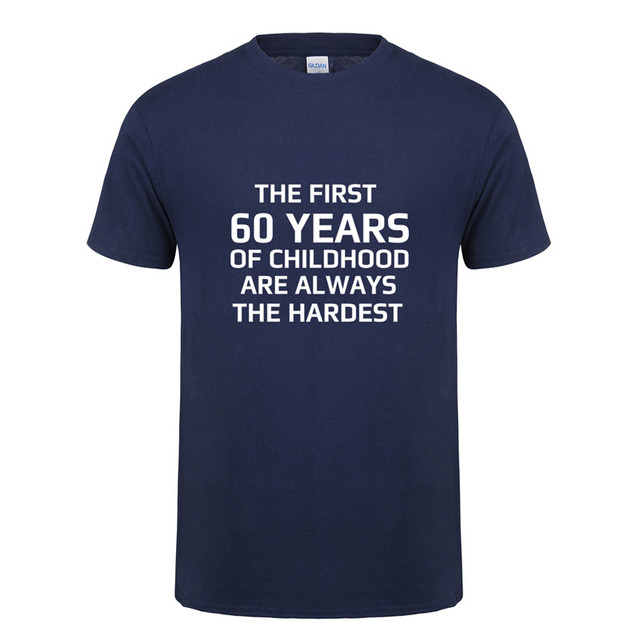 Genoeg De Eerste 60 Jaar van Kindertijd Hardste T shirt Grappig 60th &UL16