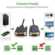 Factory Price Active DVI to VGA 6FT DVI 24+1 DVI-D M to VGA Male Cable   H7T07