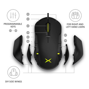 Image 2 - Delux M627S DIY 측면 날개 유선 게이밍 마우스 8 버튼 10000 인치 당 점 RGB 백라이트 PC 게이머 용 광학 왼쪽 및 오른쪽 마우스