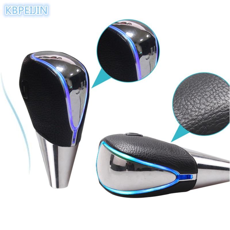 Accessoires de voiture chauds bouton de changement de vitesse capteur tactile coloré voiture Logo lumière LED pour Hyundai elantra ix35 solaris accent i30 ix25