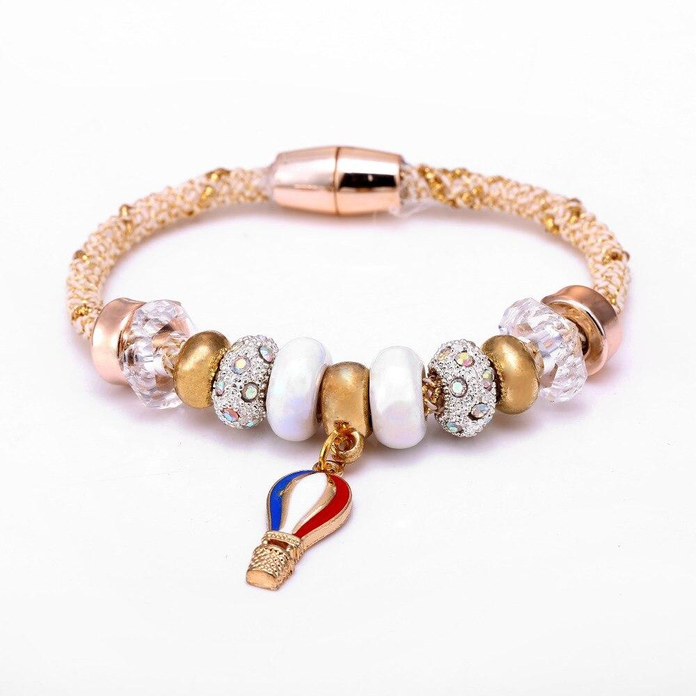 En céramique Alliage Charme Bracelets et Bracelets pour les Femmes 2016  Marque Bijoux Perle Bracelet Bracelet Cadeau De Noël a2c484b139db