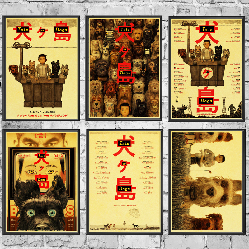 Isle Of Dogs Posters Wall Stickers Retro Poster Prints High Definition For Living Room Home Decoration Painting Calligraphy Aliexpress