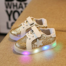 Child Lighted Shoes Girls Casual Trainer Boys Tenis Colorful Glow Kids Sneakers Brand Luminous flats Shoes Enfant LED Boots(China)