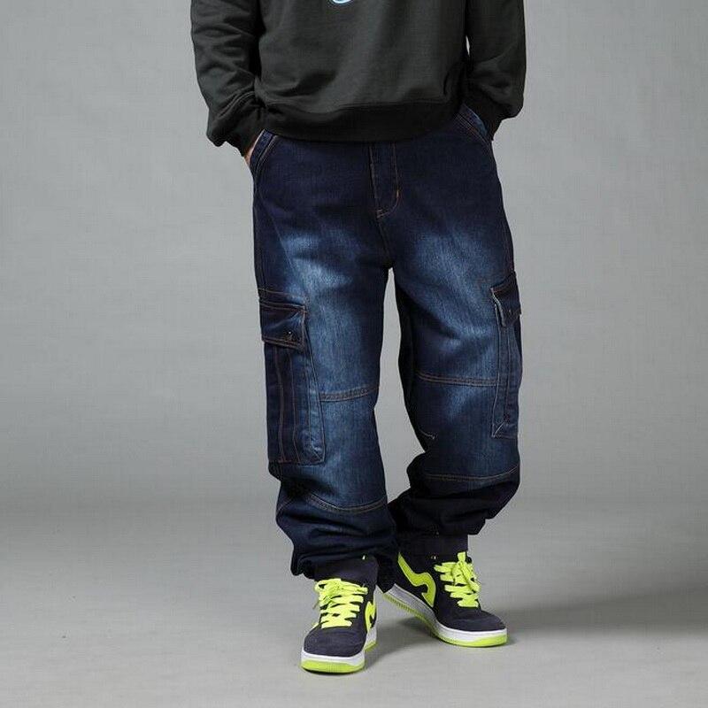 VXO 2019 Men's Black Baggy Jeans Hip Hop Designer Denim ...