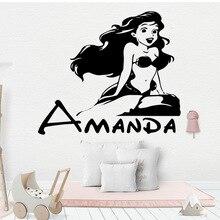 NEW amanda Custom Name Home Decor Vinyl Wall Stickers For Living Room Wallpaper Poster Kids Room Art Decals vinilo decorativo living диван amanda