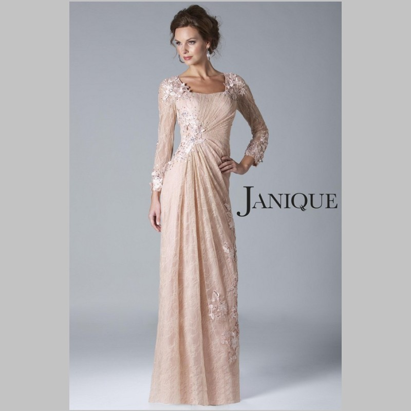 light pink lace mother of the bride dress , Rescar