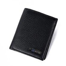 Anti diefstal slimme portemonnee echt leer Anti verloren intelligente portemonnee portemonnee mannelijke kaarthouders carteira