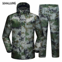 SENNLLJUNG Impermeable Raincoat Women Men Suit Rain Coat Outdoor Hiking Women Motorcycle Raincoat Camping Fishing Rain