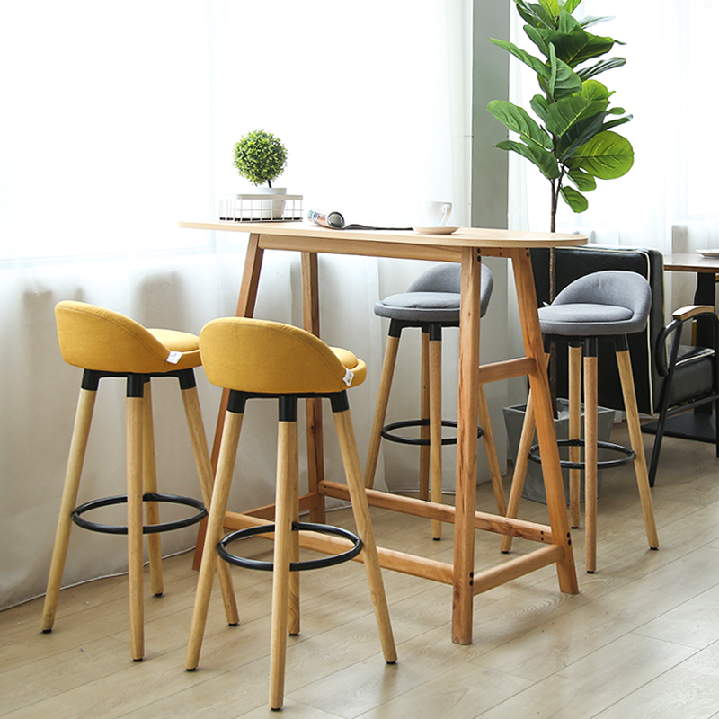 Fantastic Us 85 34 20 Off Modern Design Solid Wooden Or Plastic And Metal Bar Stool Fashion Design Counter Stool Nice Colorful Solid Wood Bar Chair In Bar Ibusinesslaw Wood Chair Design Ideas Ibusinesslaworg