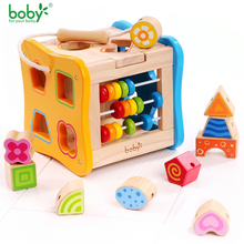 Baby toys for children Wooden Classic Wooden Multi Shape Sorter Block for Kids Gift juguetes brinquedos