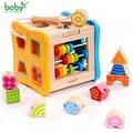 Bebé juguetes para niños De Madera De Madera Clásico Multi Forma Clasificador Bloque para Regalo de Los Cabritos juguetes brinquedos
