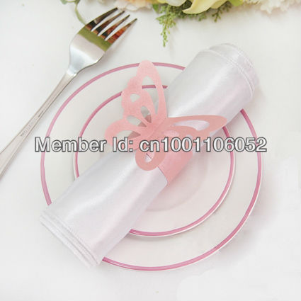 Free Shipping 50pcs High Quality Pink Paper Erfly Napkin Rings Wedding Bridal Shower Holder Sample Order In From Home Garden On