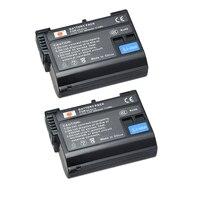 DSTE 2pcs EN EL15 En El15 Rechargeable Battery For Nikon D7000 D7100 D800 D800E D600 D610