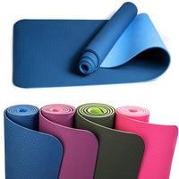No slip Yoga Mat 6mm TPE Sport Mats for Fitness Pilates Gymnastics 6mm Pad BB55