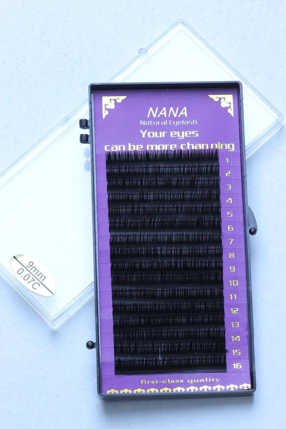 1case All size High quality eyelash extension mink individual eyelash extension natural eyelashes false eyelashes free