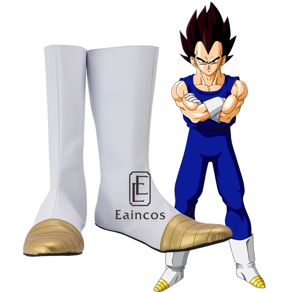 Anime Dragon Ball Vegeta Cosplay Christmas Halloween Party Shoes White Fancy Boots Custom Made