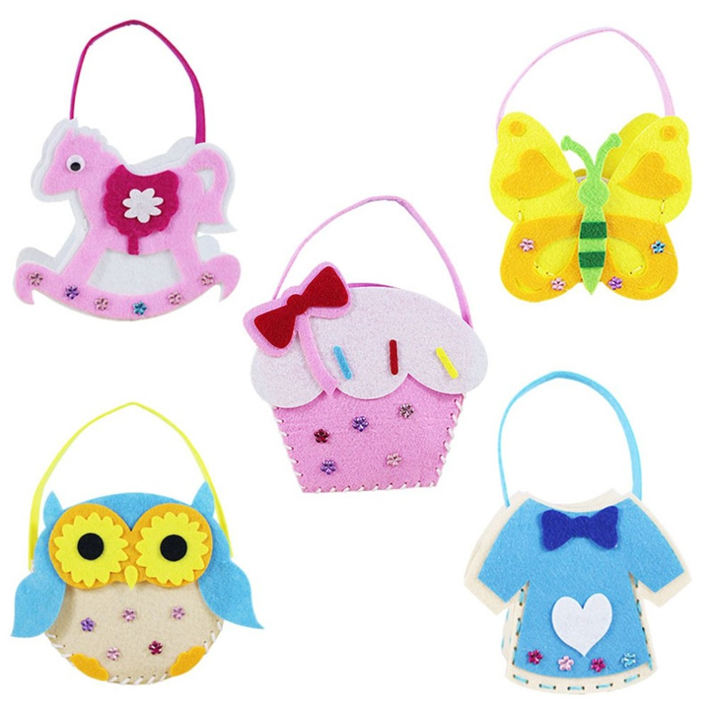 1PCS Children DIY Creative Cute Style Interactive Toys Nonwoven Fabric Handmade Intelligence Educational Crafts Art Toy Kid Gift