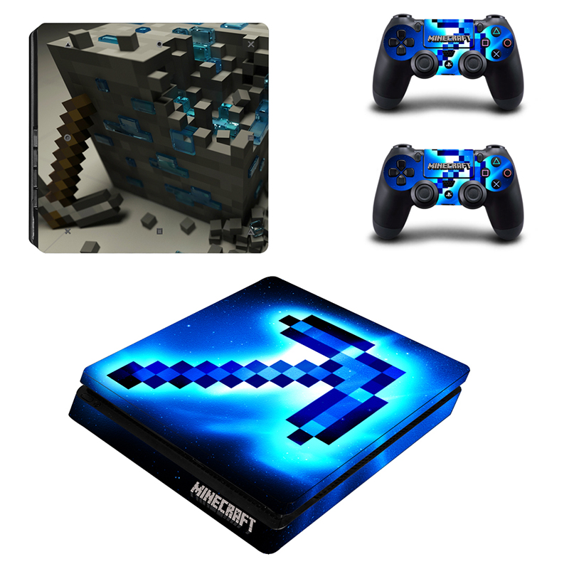 Game Stickers For Sony Playstation 4 PS4 Slim Console + 2 Controllers Skin Sticker Decal Wrap Cover