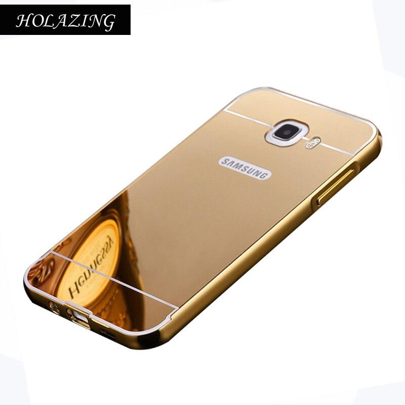 2 в 1 съемная металлический Алюминий бампер Рамки для Samsung Galaxy J5 Prime/On5 2016 с зеркала тонкий твердый переплет