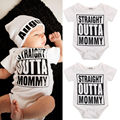 Baby Girl Boy Clothes Rompers Cotton Newborn Letter Printed White Brief Jumpsuit Playsuit Romper Outfits 3 6 9 12 18 Monthes