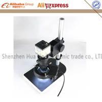 Industry Camera Set BNC/AV 800TVL 1/3 CCD Digital Microscope Camera +100X C Mount Lens + 56 LED Light+ Holder for Lab PCB