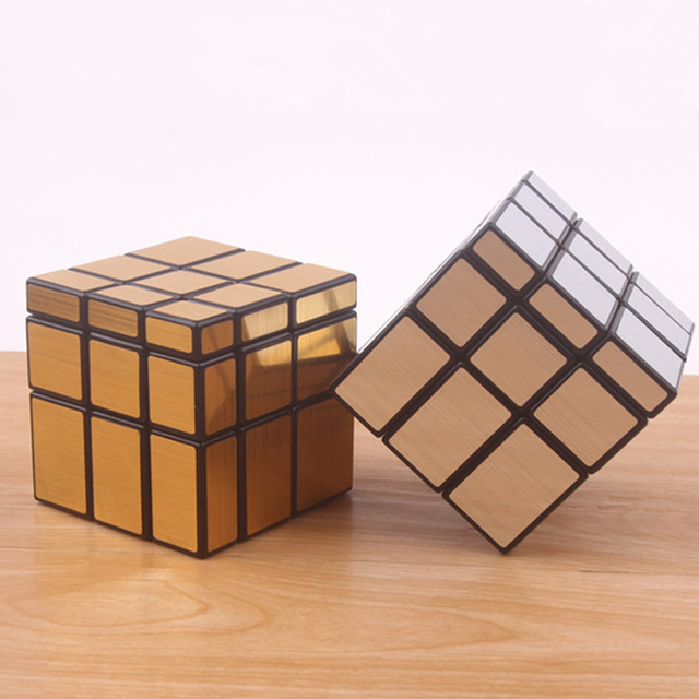 Original magic speed  mirror cube sticker block Puzzle Cast Coated Cube professional learning education toys for children 3