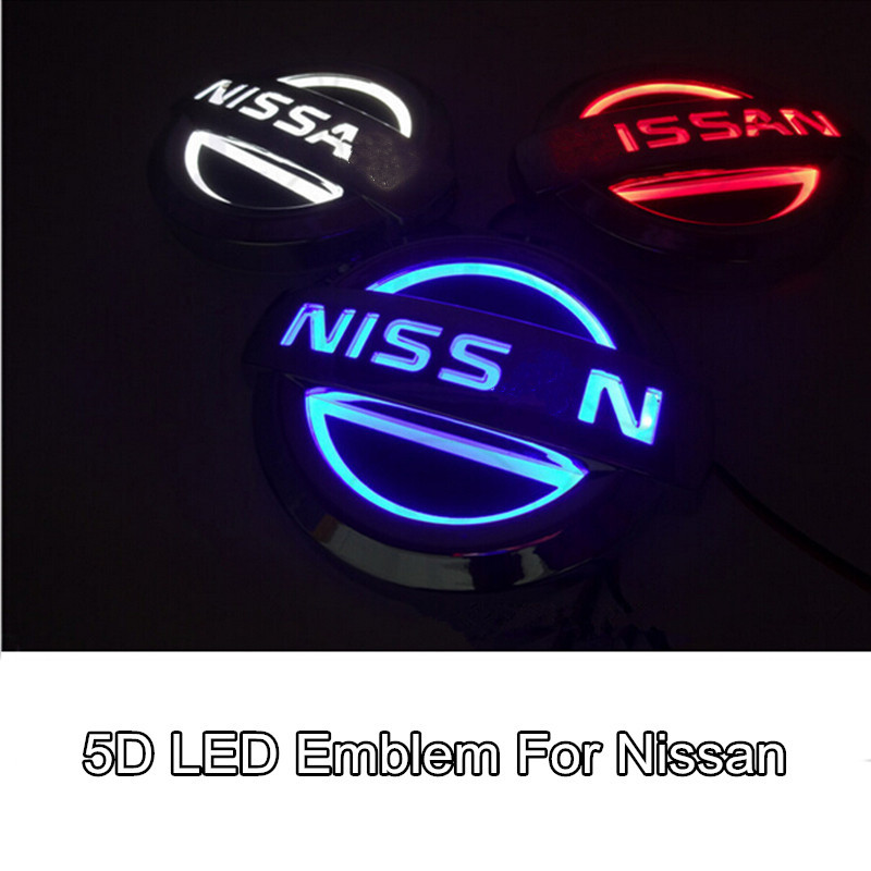 1pcs Car Styling 5D Led Rear Emblem Car Logo Light for Nissan Tiida X-Trall Geniss Livina Cedric car styling 5d led rear emblem logo light car badge bulb for audi q3 q5 a1 a3 tt