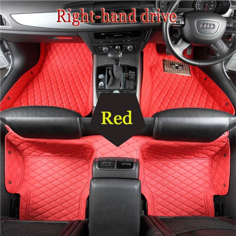 Custom fit tappetini auto per Audi A1 A3 A4 A6 A7 A8 Q3 Q5 SQ5 Q7 R8 TT TTS RS5 RS6 RS7 3 DAVANT Right hand drive noleggio-styling